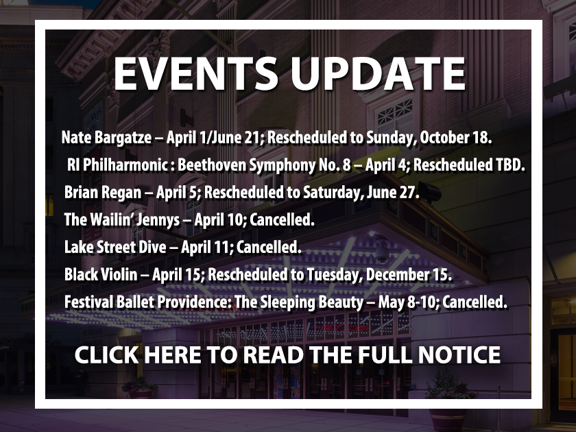More Info for Upcoming Events Update